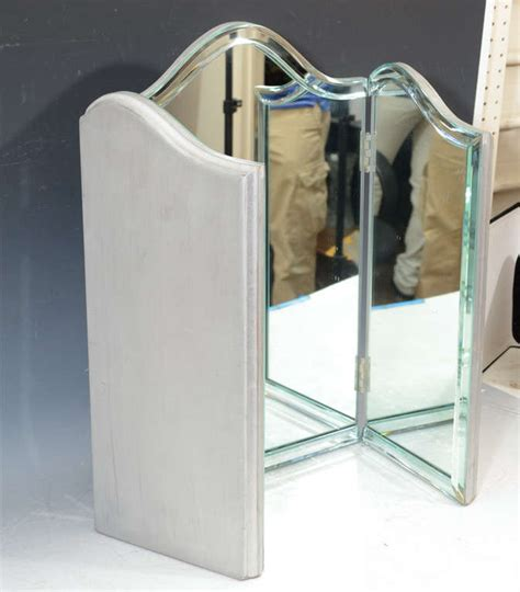 Antique Tri Fold Mirror Vanity by Vintage Regency Tri Fold Vanity Mirror At 1stdibs