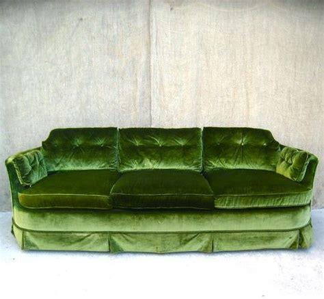 moss green couch bright moss green velvet sofa vintage chic pinterest