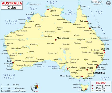 major cities in australia map cities in australia map of australia cities maps of world
