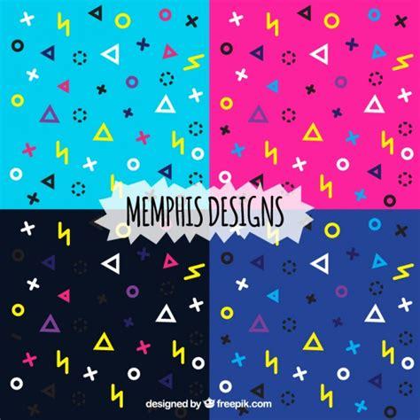 memphis pattern ai modern colorful pattern in memphis style vector premium