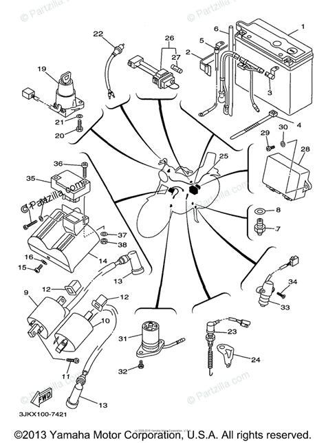 yamaha motorcycle  oem parts diagram  electrical  partzillacom