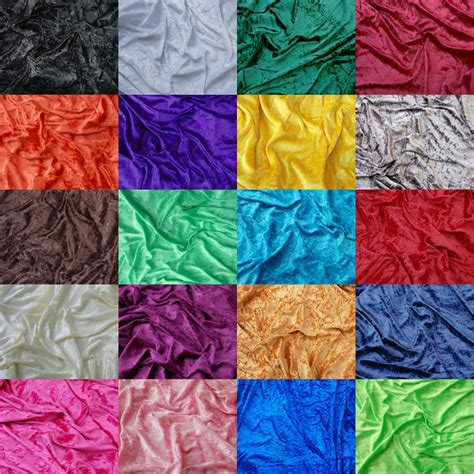 craft fabric premium crushed velvet fabric craft stretch velour