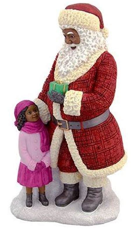 Resin Jaket Santa santa standing with large resin figurine it s a black thang