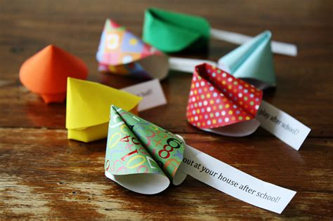 How To Make A Paper Fortune Cookie - paper friendship fortune cookies 183 kix cereal