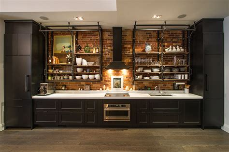 industrial kitchen cabinets live work loft space industrial kitchen toronto by