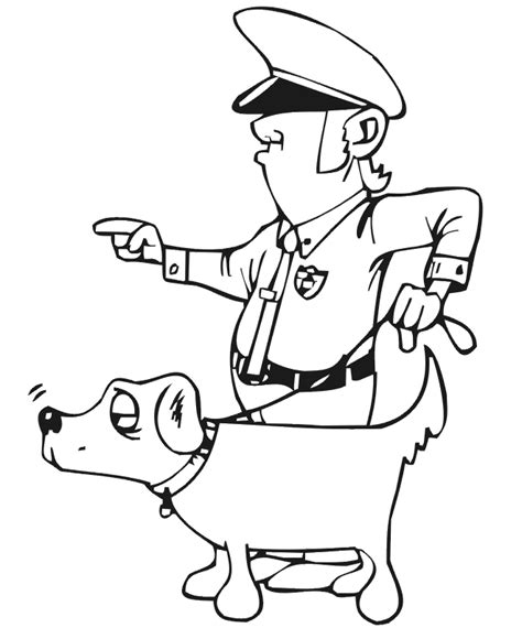 coloring pages of police dogs free coloring pages of police dog gif