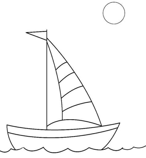 how to draw a boat for kindergarten sailing boat drawing for kids www imgkid the image