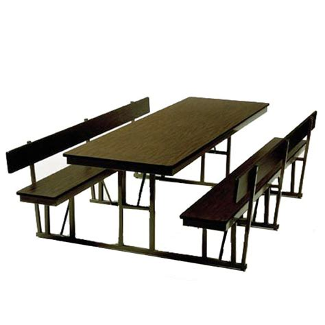 cafeteria bench barricks standard cafeteria bench table w back 30 quot w x 72 quot l wb 30 6 p