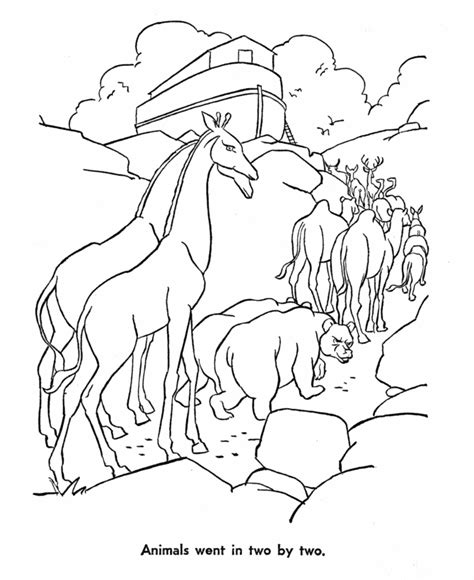 noah ark coloring page coloring home
