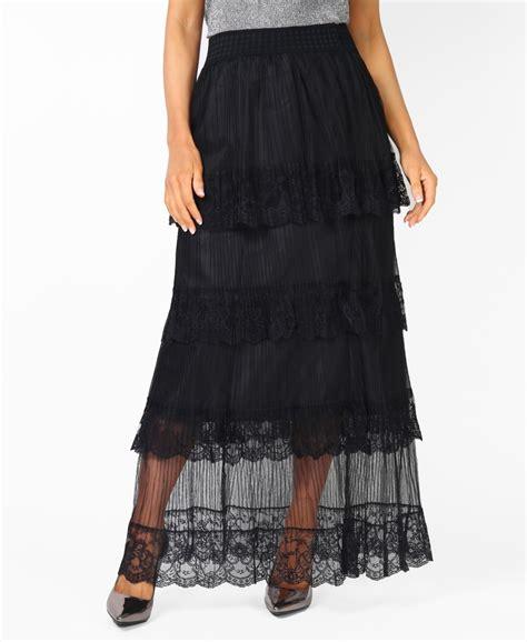 Ruffle Maxi Skirt skirts lace mesh tiered ruffle maxi skirt krisp