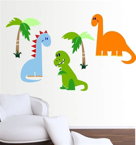 dinosaur wall decals dinosaur wall decal set vinyl wall stickers by xpressionsthatstick