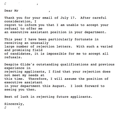 Rejection Letter Buffer Image Gallery Rejection Letter
