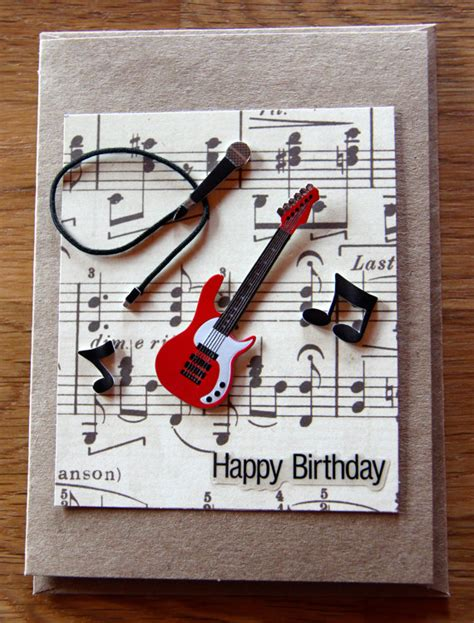 how to make a musical greeting card handmade cards handmade birthday cards band card