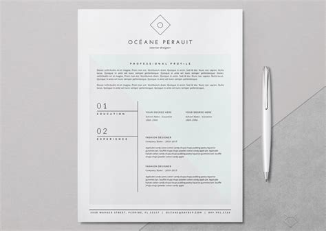 photoshop resume template word 50 best resume templates for word that look like photoshop designs