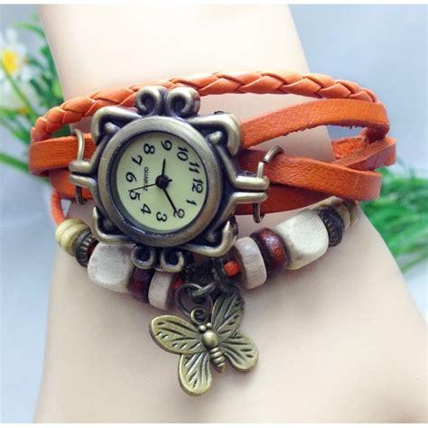Jam Tangan Vintage jam tangan wanita style vintage orange jakartanotebook