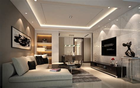 Modern Drop Ceiling 3d Minimalist House Suspended Ceiling Design 3d House