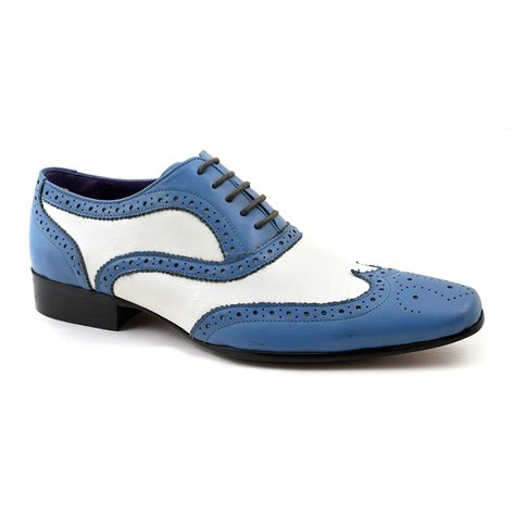 white oxford shoes mens buy mens blue white oxford two tone brogue gucinari