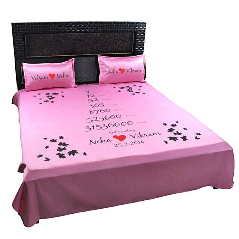 bed calculator personalised love time calculator bedsheet