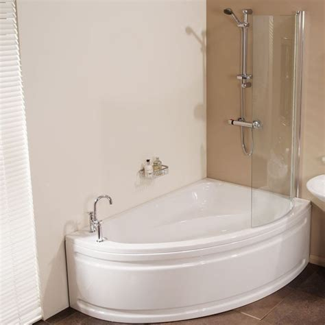 corner bath with shower screen vienna 1500 x 1050 offset right shower bath