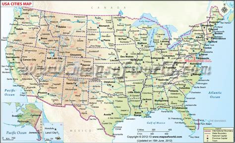 usa map states capitals and major cities us map showing all the major cities of all these 50 states