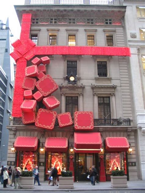 cartier  york city love  idea   single giant bow paired  giant ornaments