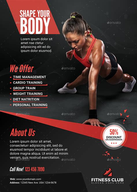 fitness flyer fitness flyer by diverter graphicriver