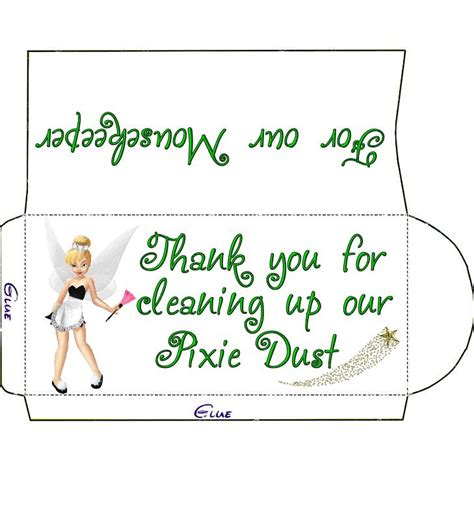 printable housekeeping tip envelopes 20 best mousekeeping images on pinterest