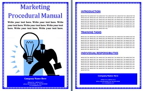 marketing procedural manual template