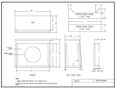 Cabinet Blueprint by Guitar Speaker Cabinet Blueprints Roselawnlutheran