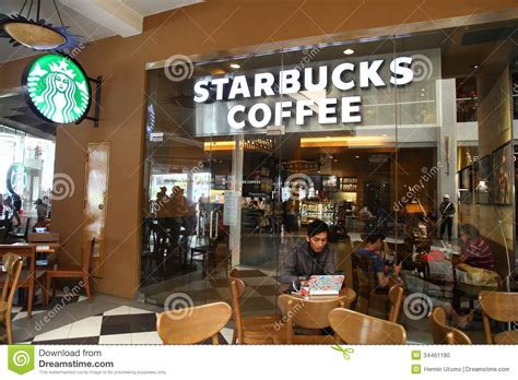 Coffee Starbucks Indonesia starbucks coffee at cilandak town square jakarta editorial