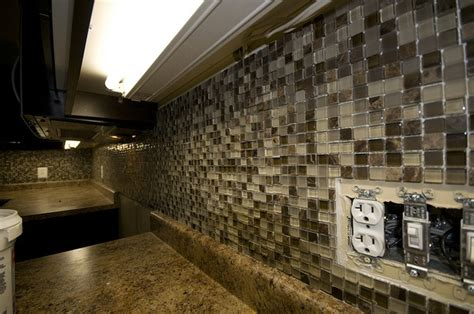earth tone tile backsplash home makeover coming soon