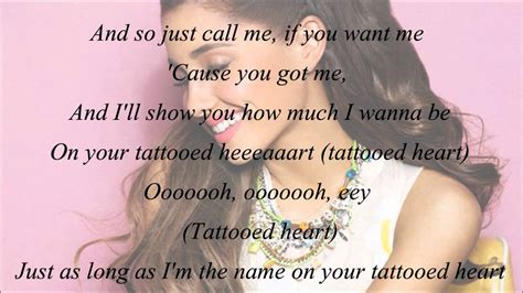 ariana grande tattooed heart free mp3 ariana grande tattooed heart with lyrics chords chordify
