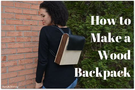 how to throw a knockout how to make a knock off diy wood backpack with faux leather