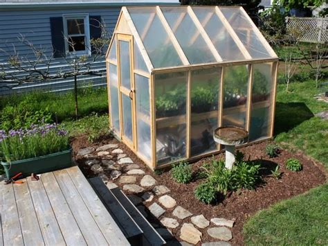 the sustainable thoughts on a backyard greenhouse