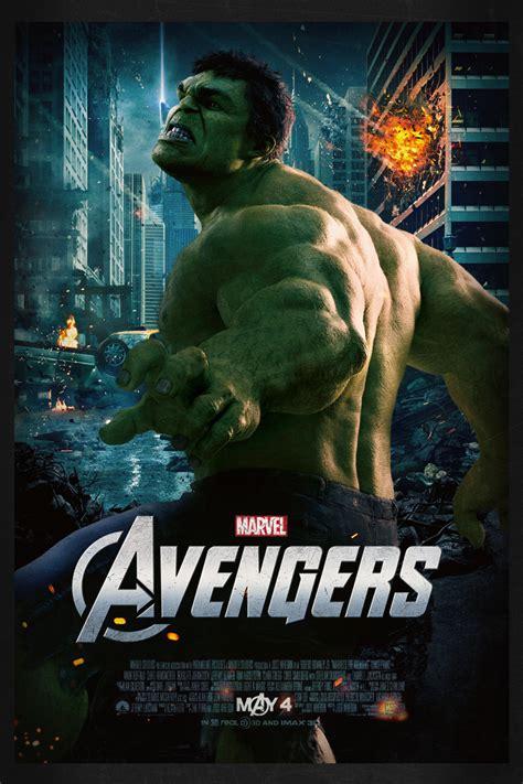 membuat poster film hulk the avengers hulk theatrical poster by kyle leberbera