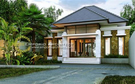 desain rumah villa 1 lantai desain rumah 1 lantai style villa bali tropis jasa arsitek