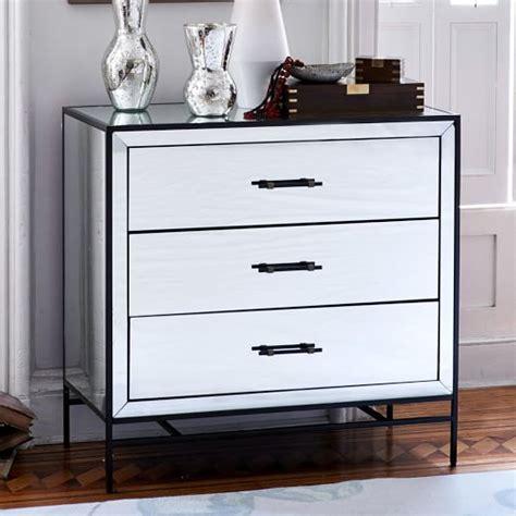 modern 3 drawer dresser west elm mirrored 3 drawer dresser west elm