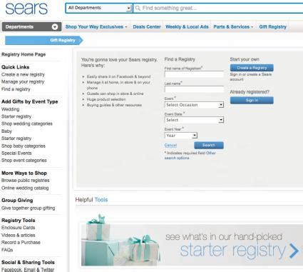 Wedding Registry Sears by Popular Wedding Registries