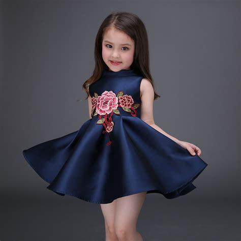Dress Brokat Flowers Antiiqa 1 dress with flower embroidery 2017 sleeveless dresses knee length dresses
