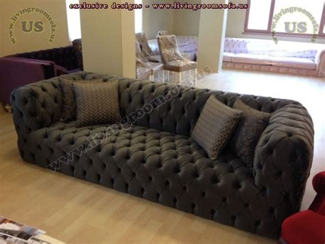 Black Fabric Chesterfield Sofa Nice Black Cloth Sofa Fabric Chesterfield Style Sofa