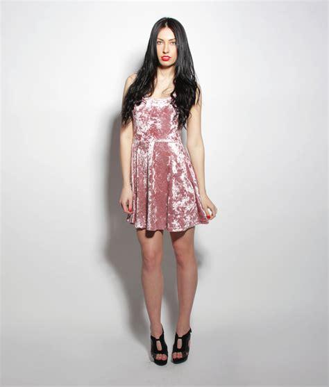 crushed velvet dress womens clothing uk