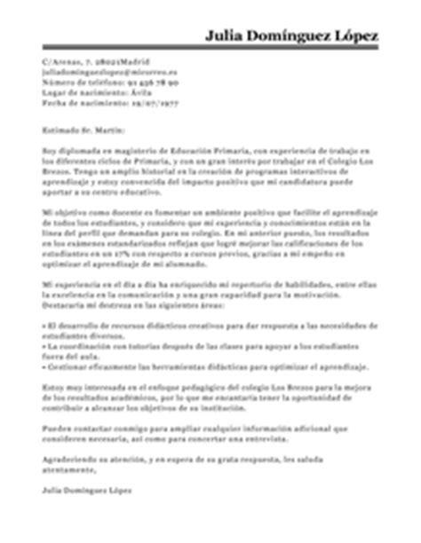 Modelo Carta Presentacion Curriculum Colegio Modelo De Carta De Presentaci 243 N Maestro Maestro Ejemplo Livecareer