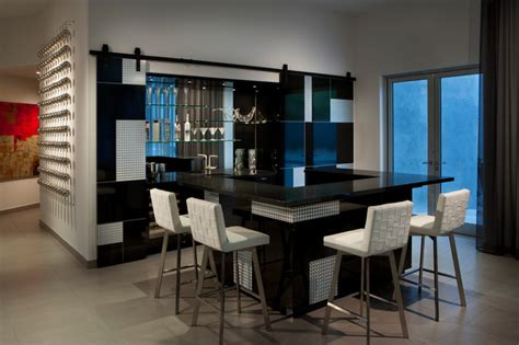 Built In Bathroom Vanities Bar Contemporary Home Bar Phoenix By Angelica