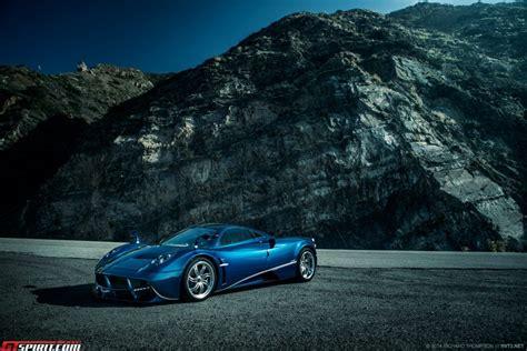 exclusive blue pagani huayra meets mercedes sl65 amg