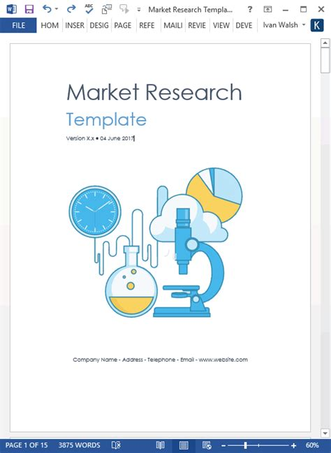 market research template market research templates 10 word 2 excel