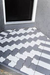 Painting Patio Pavers Front Porch Makeover With Painted Paver Stones So Much Better With Age