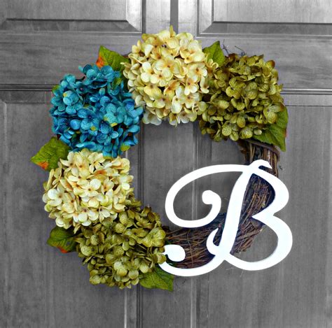 Initial Front Door Wreaths Monogram Wreath Front Door Wreaths Initial Wreath By Refinedwreath