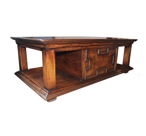 Handmade Tables Uk - westerham solid oak coffee table with through drawer