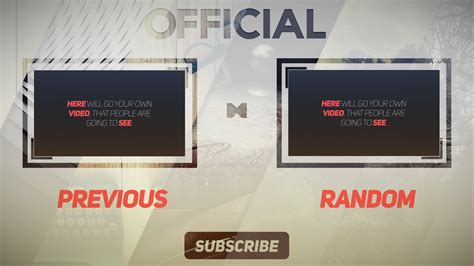After Effects Free Template Outro | clean free 2d outro template after effects free outro