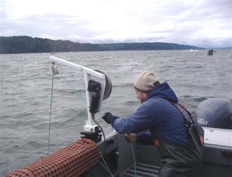 small boat haulers shrimping in hood canal